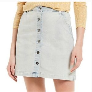 Chelsea&Violet Button Front High Waist Jean Skirt